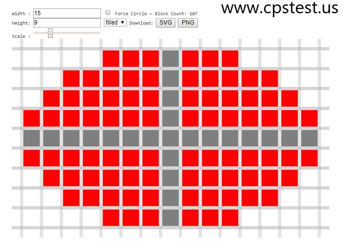 pixel circle generator
