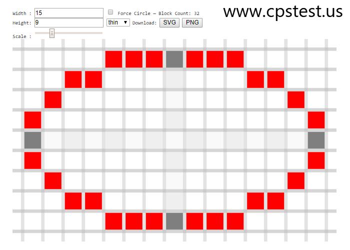 pixel circle